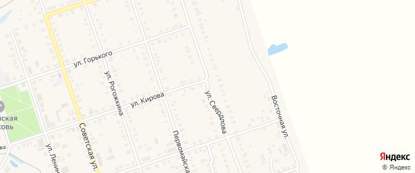 Улица Свердлова на карте Цивильска с номерами домов