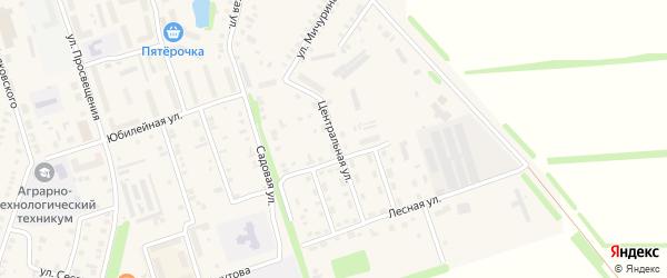 Центральная улица на карте Цивильска с номерами домов