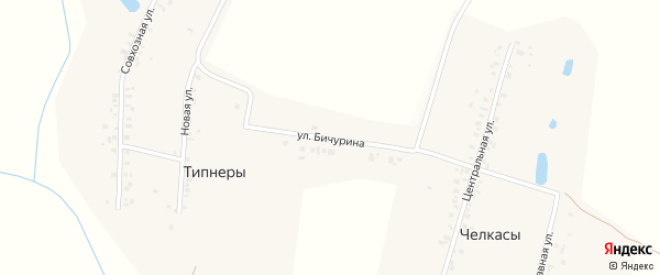 Улица Н.Я.Бичурина на карте деревни Типнер с номерами домов