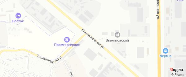 Коммунальная улица на карте Новочебоксарска с номерами домов