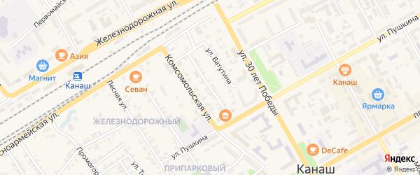 Комсомольский проезд на карте Канаша с номерами домов