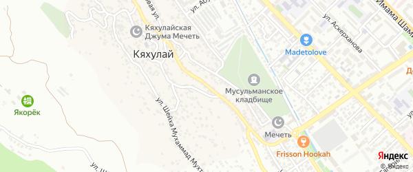 Улица Багандова на карте поселка Кяхулая с номерами домов