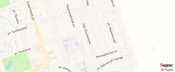 Переулок Боцманова на карте Цивильска с номерами домов