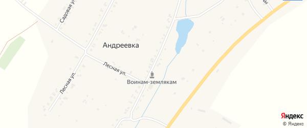 Улица Гагарина на карте деревни Андреевки с номерами домов