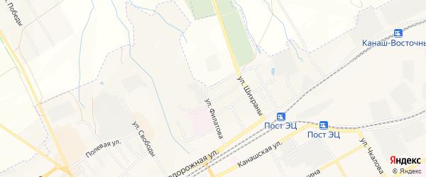 ГСК Северная-2 на карте Канаша с номерами домов