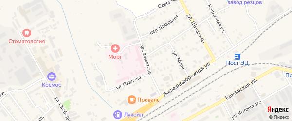 Улица Филатова на карте Канаша с номерами домов