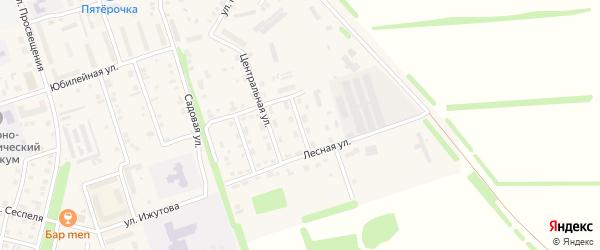 Светлая улица на карте Цивильска с номерами домов