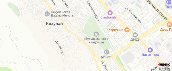 Шоссейная 2-я улица на карте поселка Кяхулая с номерами домов