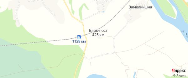 Карта железнодорожного разъезда Блока-поста 425 км в Архангельской области с улицами и номерами домов