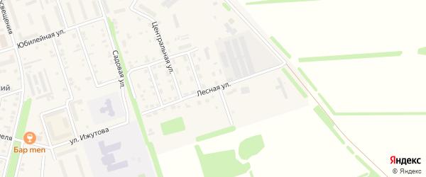 Лесная улица на карте Цивильска с номерами домов
