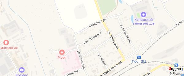 Переулок Шихраны на карте Канаша с номерами домов