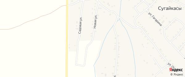 Новая улица на карте деревни Сугайкас с номерами домов