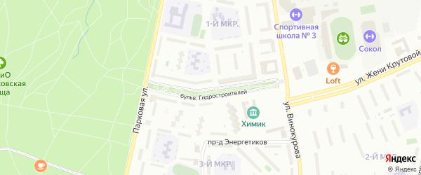Бульвар Гидростроителей на карте Новочебоксарска с номерами домов