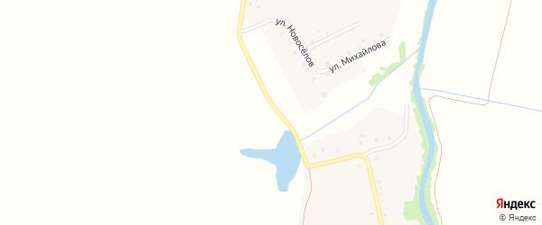 Клубная улица на карте деревни Первые Тойси с номерами домов