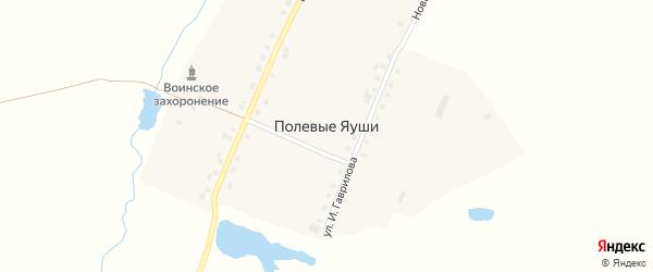 Подгорная улица на карте деревни Полевые Яуши с номерами домов