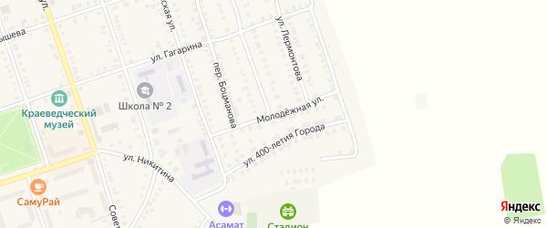 Молодежная улица на карте Цивильска с номерами домов