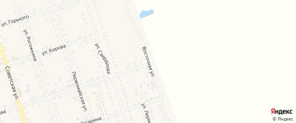 Восточная улица на карте Цивильска с номерами домов