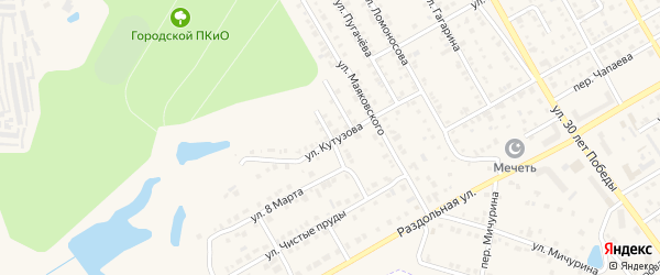 Улица Радищева на карте Канаша с номерами домов