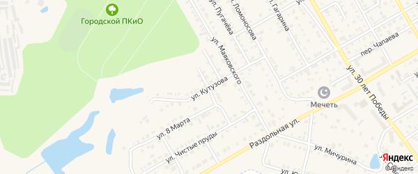 Улица Кутузова на карте Канаша с номерами домов