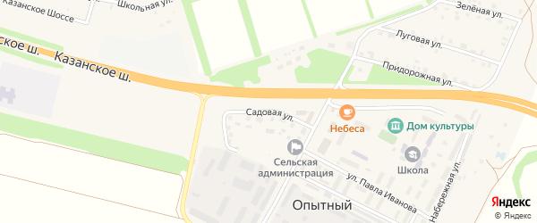 Садовая улица на карте Опытного поселка с номерами домов