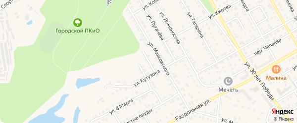 Проезд Маяковского на карте Канаша с номерами домов