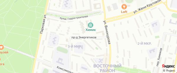 Проезд Энергетиков на карте Новочебоксарска с номерами домов