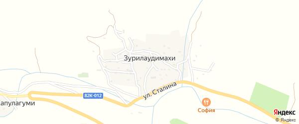 Улица Иосифа Виссарионовича Сталина на карте села Зурилаудимахи с номерами домов