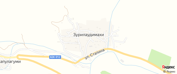 Улица Меджидова Магомеда Уцумиевича на карте села Зурилаудимахи с номерами домов