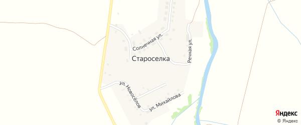 Дорожная улица на карте деревни Староселки с номерами домов