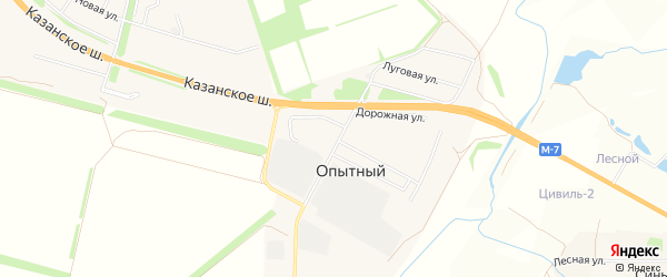 СТ Каравай на карте Опытного сельского поселения с номерами домов