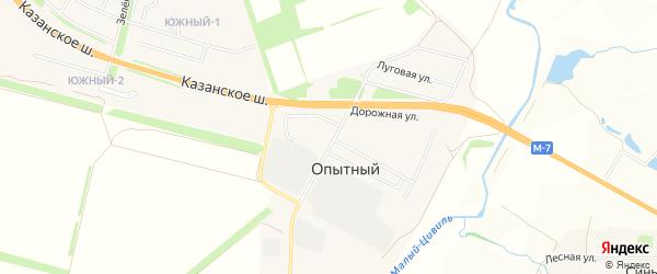 СТ Ручеек-3 на карте Опытного сельского поселения с номерами домов