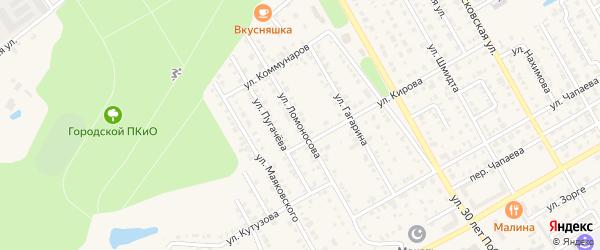 Улица Ломоносова на карте Канаша с номерами домов