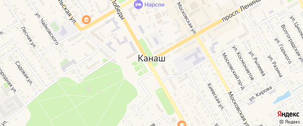 СНТ Садоводческое неком. тов-во Движенец на карте Канаша с номерами домов