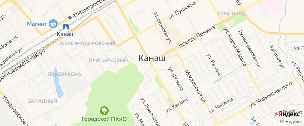 Садоводческое тов-во Автомобилист -1 на карте Канаша с номерами домов