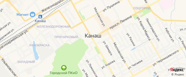 СТ Солнышко на карте Канаша с номерами домов