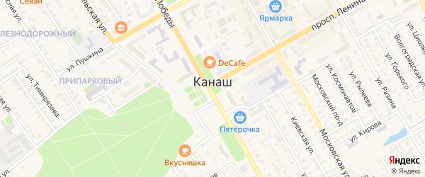 Автовокзальный переулок на карте Канаша с номерами домов