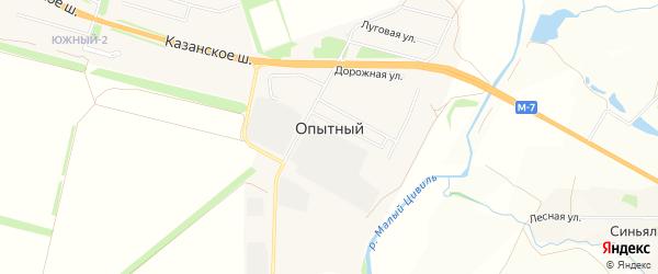 Карта Опытного поселка в Чувашии с улицами и номерами домов