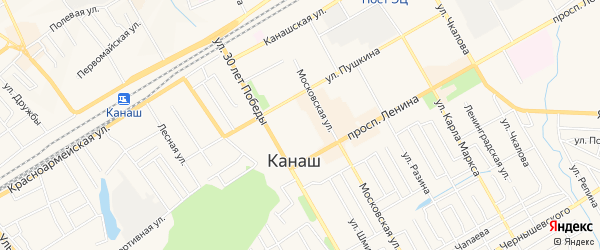 Сад ВРЗ N1 на карте Канаша с номерами домов