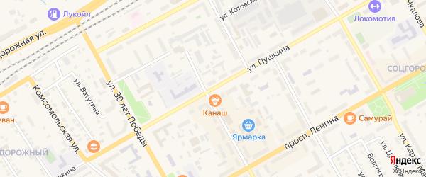 Улица Пушкина на карте Канаша с номерами домов