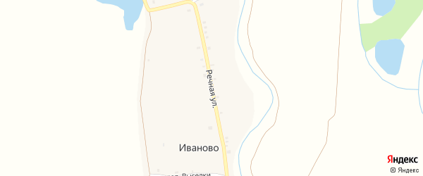 Речная улица на карте деревни Первые Тойси с номерами домов