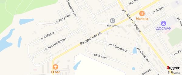 Раздольная улица на карте Канаша с номерами домов