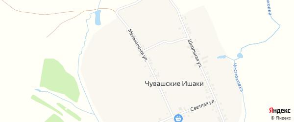 Мельничная улица на карте деревни Чувашские Ишаки с номерами домов