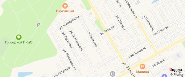 Улица Гагарина на карте Канаша с номерами домов