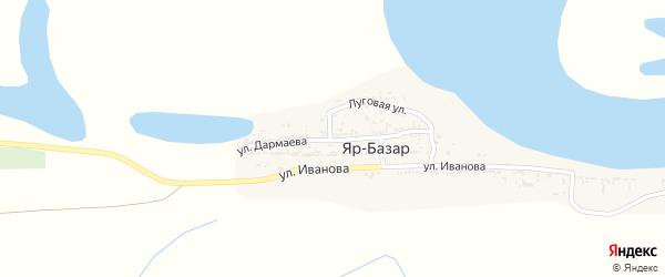 Улица Дармаева на карте села Яра-Базара с номерами домов