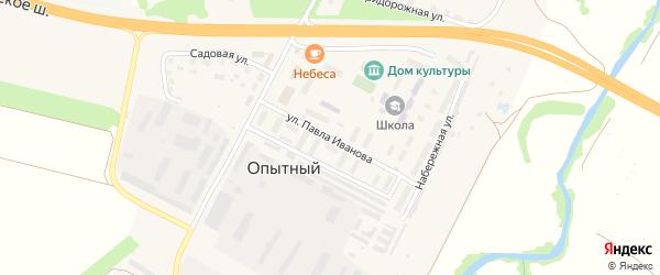 Улица П.Иванова на карте Опытного поселка с номерами домов