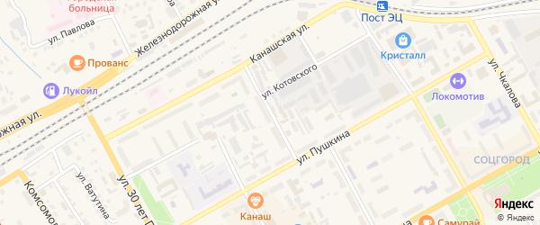 Улица Некрасова на карте Канаша с номерами домов