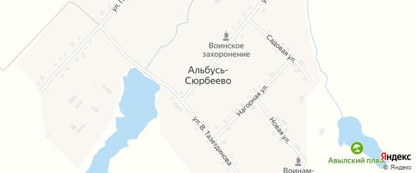 Северная улица на карте деревни Альбусь-Сюрбеево с номерами домов