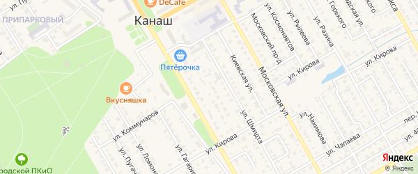 Улица Строителей на карте Канаша с номерами домов