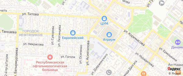 Батырая 2-й тупик на карте Махачкалы с номерами домов