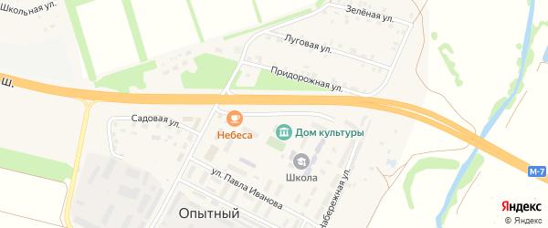Дорожная улица на карте Опытного поселка с номерами домов